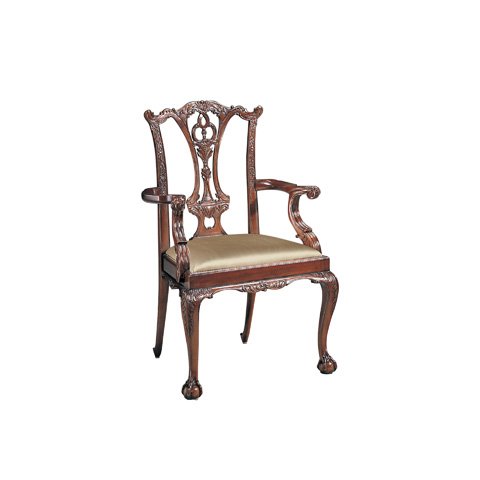 Maitland-Smith - Polished Mahogany Chippendale Armchair - 4131-006