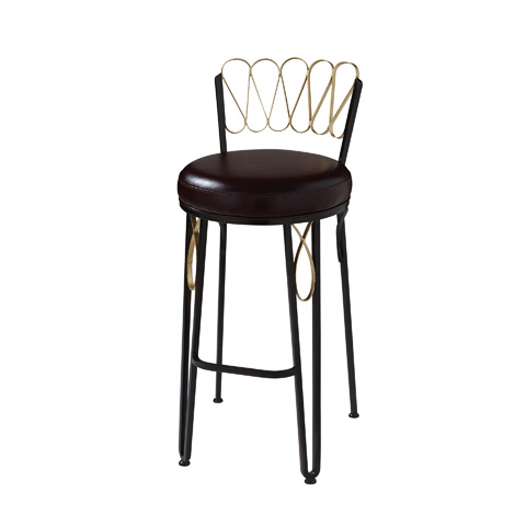 Maitland-Smith - Iron Ore Counter Stool with Gold Gilding - 4251-140