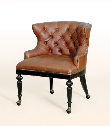 Maitland-Smith - Black Vendome Game Chair - 4330-812
