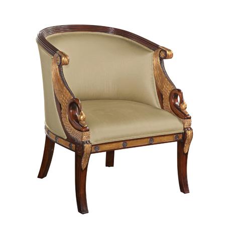 Maitland-Smith - Hand Carved Mahogany Empire Armchair - 4331-065
