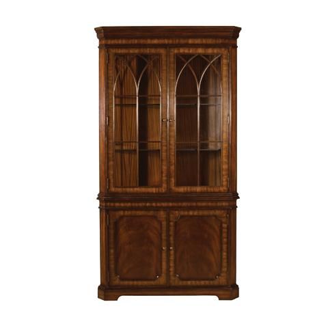 Image of Aged Regency Mahogany Corner Cabinet