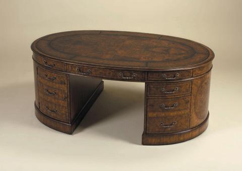 Maitland-Smith - Aged Regency Walnut Burl Veneer Partners' Desk - 5530-266