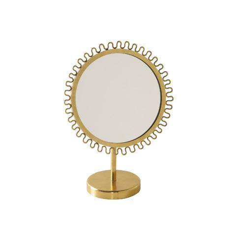 Maitland-Smith - Soft Finished Brass Vanity Mirror - 1254-363