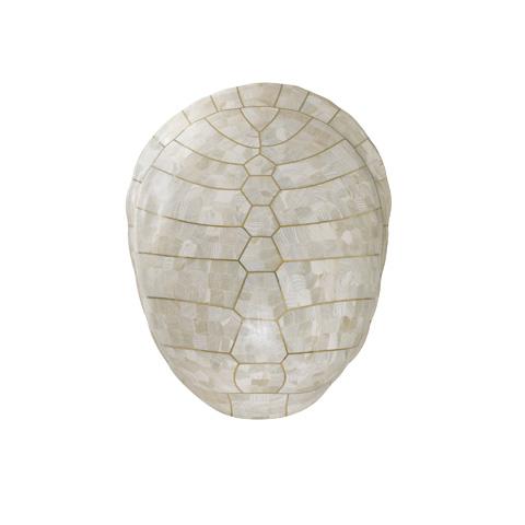Maitland-Smith - White Clam Stone Inlaid Wall Décor - 1400-184