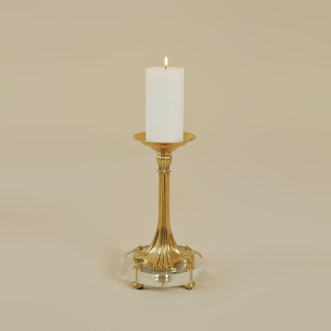 Maitland-Smith - Amber Finished Cast Brass Candleholder - 1654-695