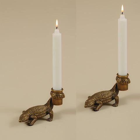 Maitland-Smith - Pair of Crocodile Candleholders - 1654-724