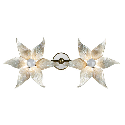Maitland-Smith - White Oyster Shell Inlaid Wall Sconce - 1943-136