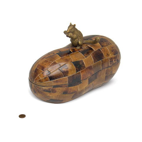 Maitland-Smith - Tiger Penshell Inlaid Lidded Box - 2100-475