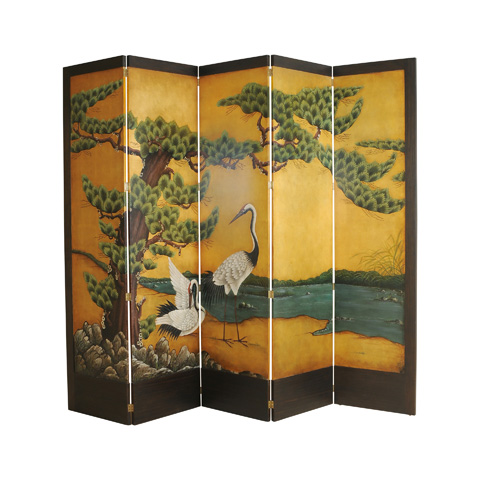 Image of Hand Painted Floor Screen