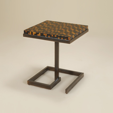 Maitland-Smith - Black Rubbed Finished Iron Occasional Table - 3051-290