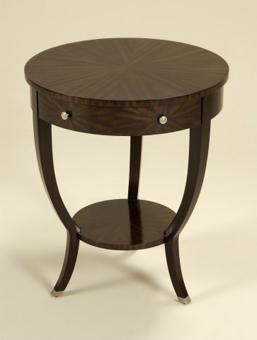 Maitland-Smith - Ebony Finished Round Occasional Table - 3230-830