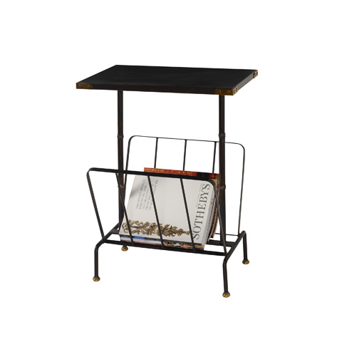 Maitland-Smith - Iron Ore Finished Brass and Iron Occasional Table - 3254-126