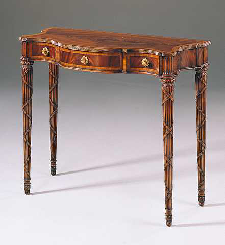 Maitland-Smith - Mahogany Regency Serpentine Console Table - 3440-028
