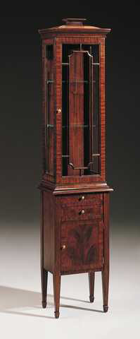 Maitland-Smith - Hand Carved Mahogany Display Cabinet - 5131-031