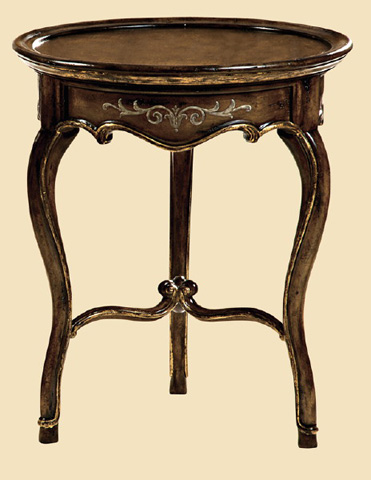 Marge Carson - Round Chairside Table - LEM30-1