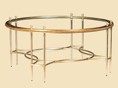 Marge Carson - La Scala Round Cocktail Table - LS00