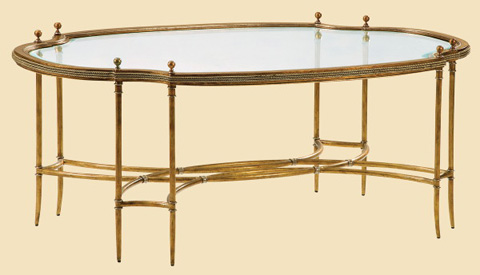Marge Carson - La Scala Oval Cocktail Table - LS01