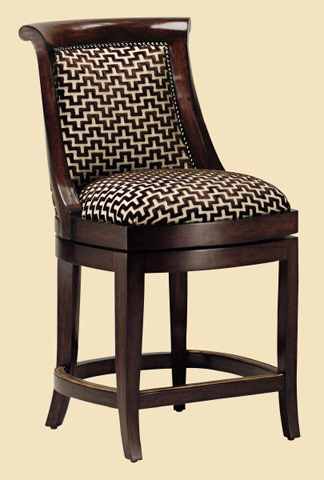 Marge Carson - Metropolitan Swivel Counter Stool - MET47-26