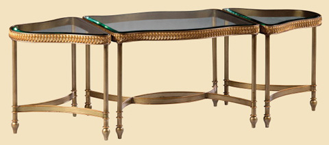 Marge Carson - Glass Top Bunching Cocktail Table - RR01