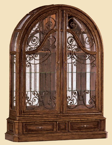 Image of Arched Scrollwork Display Cabinet