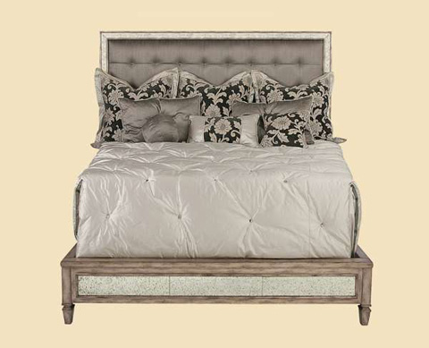 Image of Contemporary Upholstered Panel Bed