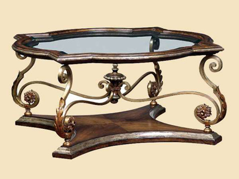 Marge Carson - Glass Top Cocktail Table - SEV00