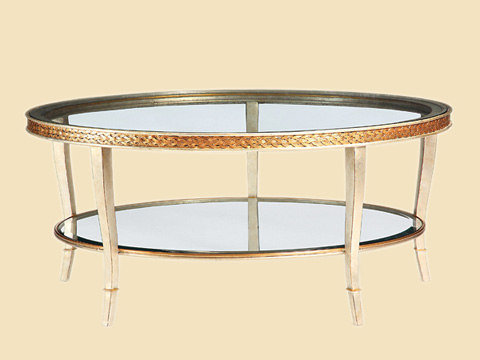 Image of Round Glass Cocktail Table