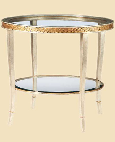 Image of Round Glass End Table