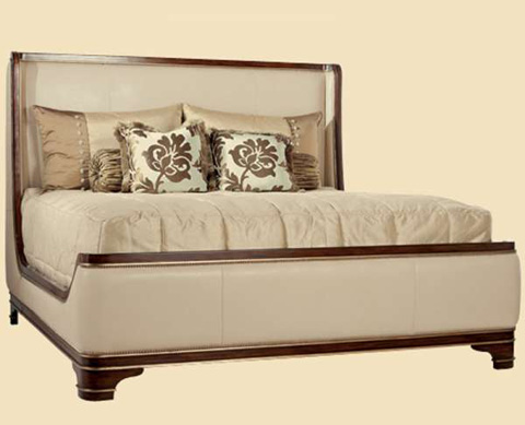 Marge Carson - King Sleigh Wingback Bed - TAN81