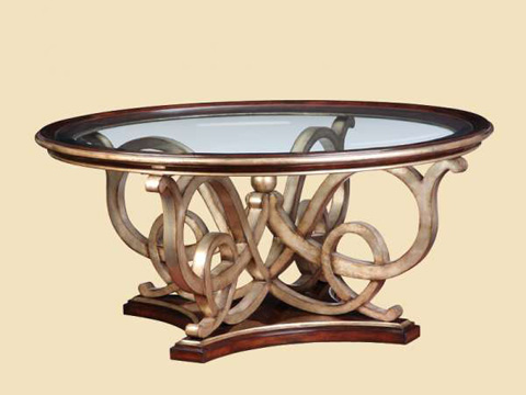 Marge Carson - Round Cocktail Table - BOS00