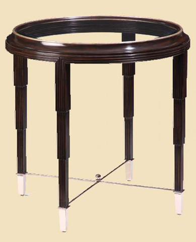 Marge Carson - Round Lamp Table - BOS04