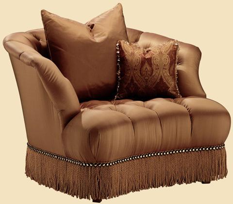 Marge Carson - Alexander Tufted Tub Chair - AN41