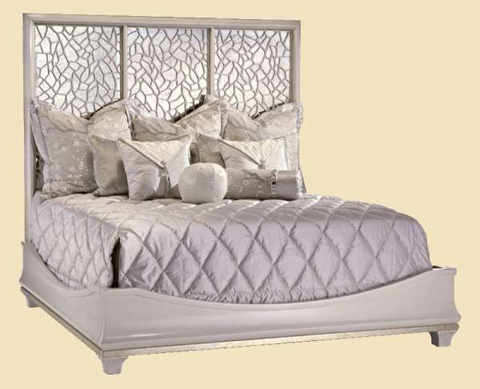 Marge Carson - King Mirrored Panel Bed - BOL11W
