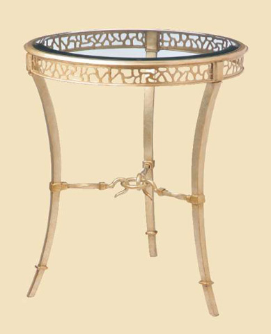 Marge Carson - Round Chairside Table - BOL30