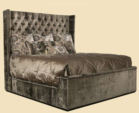Marge Carson - Dakota Upholstered Wingback Bed - DAK11