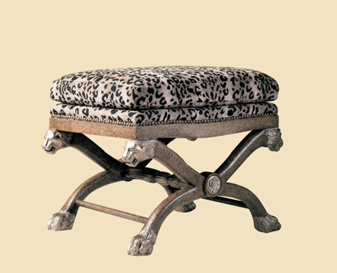Marge Carson - Lion Upholstered Bench - LI48