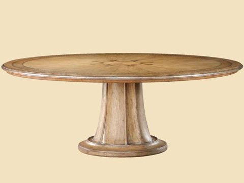 Image of Round Pedestal Dining Table