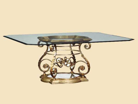 Marge Carson - Square Pedestal Dining Table - SEV08G