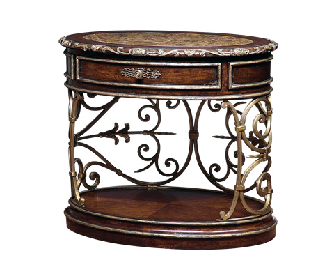 Marge Carson - Oval Nightstand - SEV13