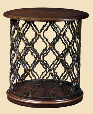 Marge Carson - Round Drum End Table - SHB04