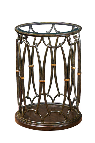 Image of Round Drum Chairside Table