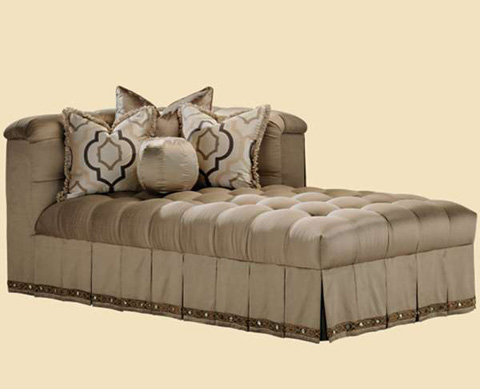 Marge Carson - Tiffany Tufted Chaise - TF44