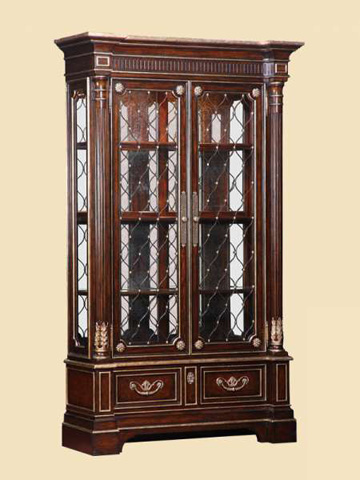 Image of Mirrored Back Display Cabinet