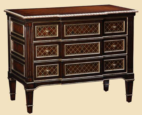 Marge Carson - Three Drawer Nightstand - TRC12-1