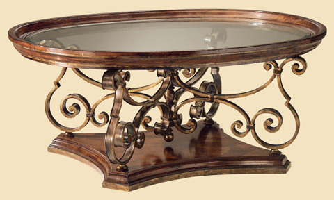 Marge Carson - Oval Cocktail Table - VA00