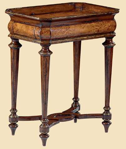 Marge Carson - Rectangular Chairside Table - VA30