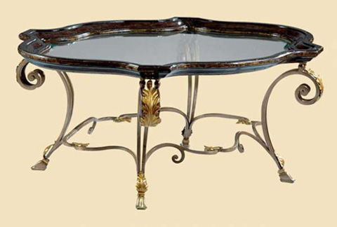 Marge Carson - Glass Top Cocktail Table - VV01