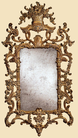 Image of Carved Wall Mirror