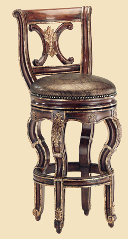 Image of Cross Back Upholstered Barstool