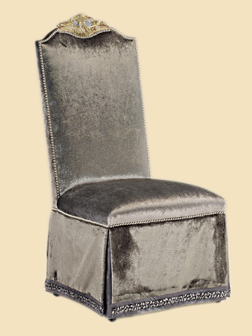 Marge Carson - Skirted Side Chair - PSM45-2